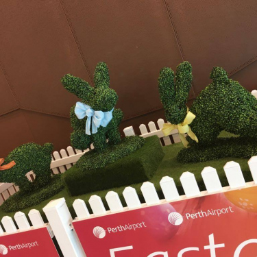 Plastic Topiary for Easter Campaign