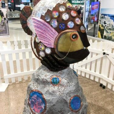 Fish Sculptures for Secret Harbour Shopping Centre
